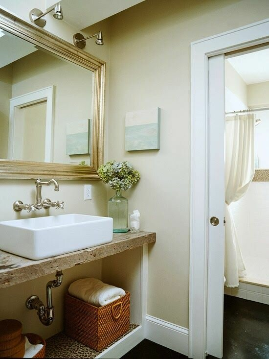 17 small bathroom ideas with photos mostbeautifulthings for Small bathroom ideas 2014