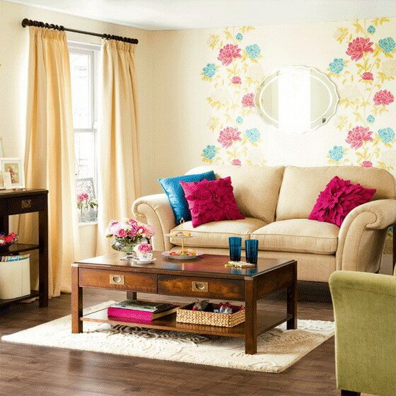 Top 21 small living room ideas and decors for Wallpaper for small living room