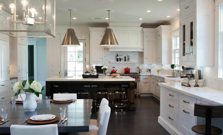 18 design samples with white kitchen cabinets - Most beautiful white kitchens ...