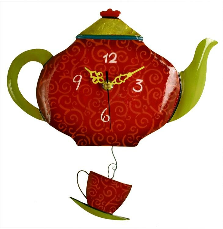 Teapot Kitchen Wall Clock