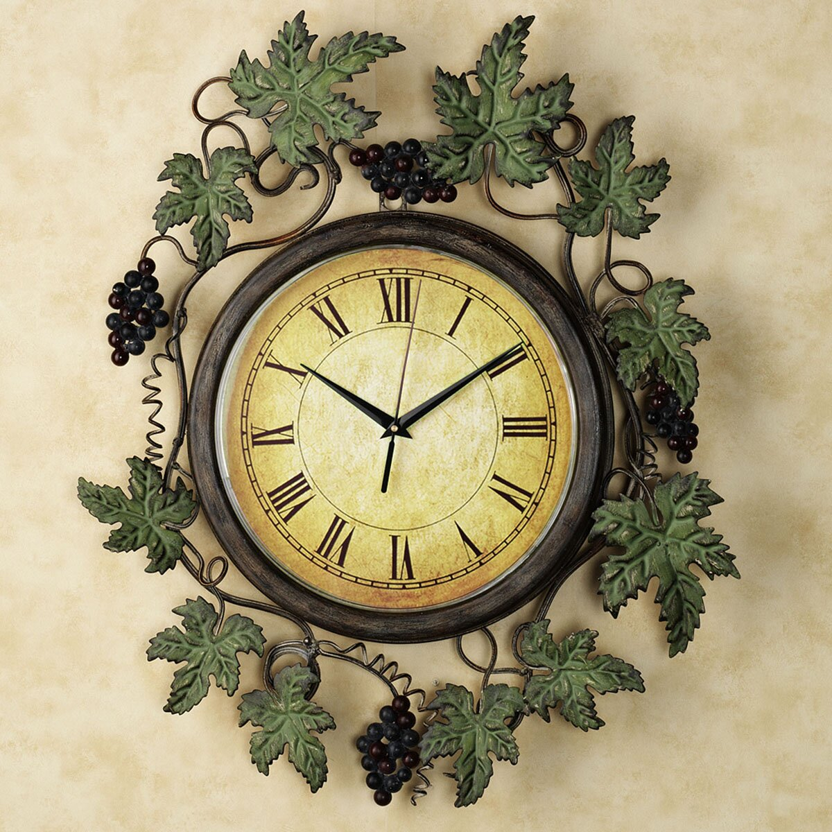 Kitchen Wall Clock Wine