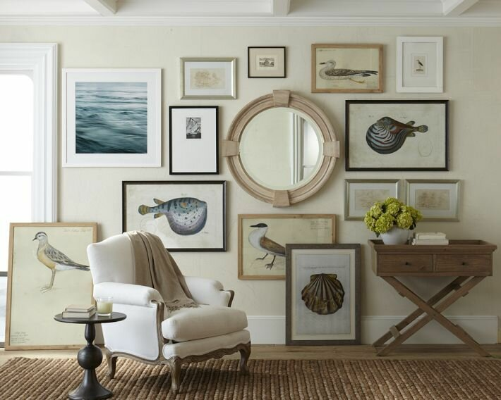 23 frame decor examples for living room mostbeautifulthings for Coastal wall decor ideas