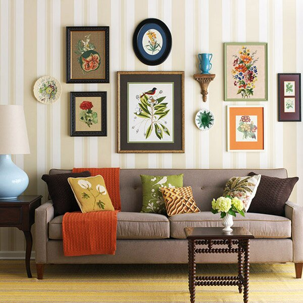 23 frame decor examples for living room mostbeautifulthings for Decoraciones de hogar