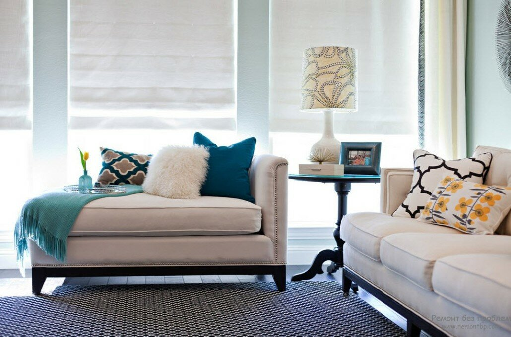 20 inspiring decorating ideas with pillows Loungers for living room