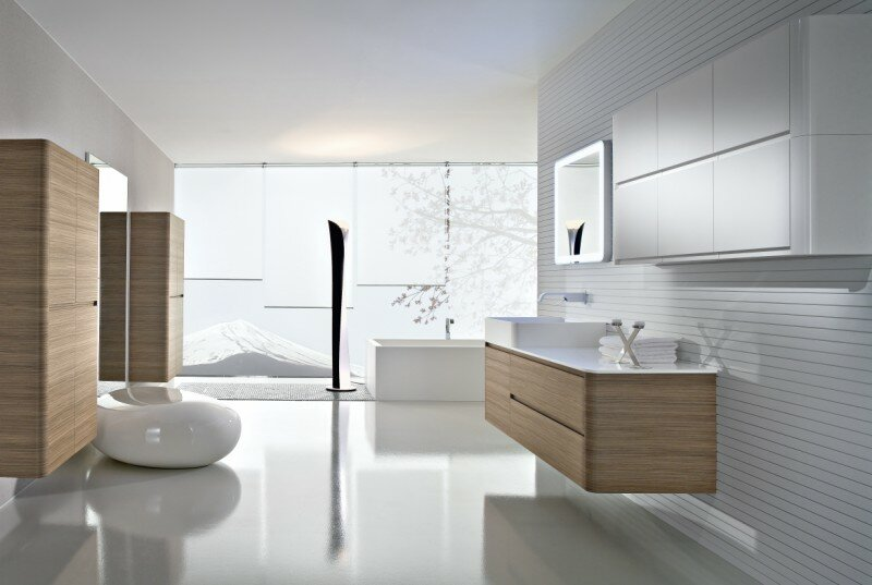 futuristic bathroom models