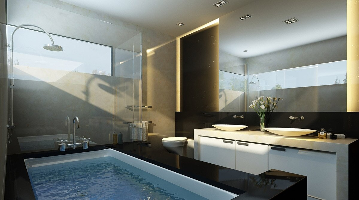 Top 19 futuristic bathroom designs mostbeautifulthings for Beautiful bathroom designs small bathroom