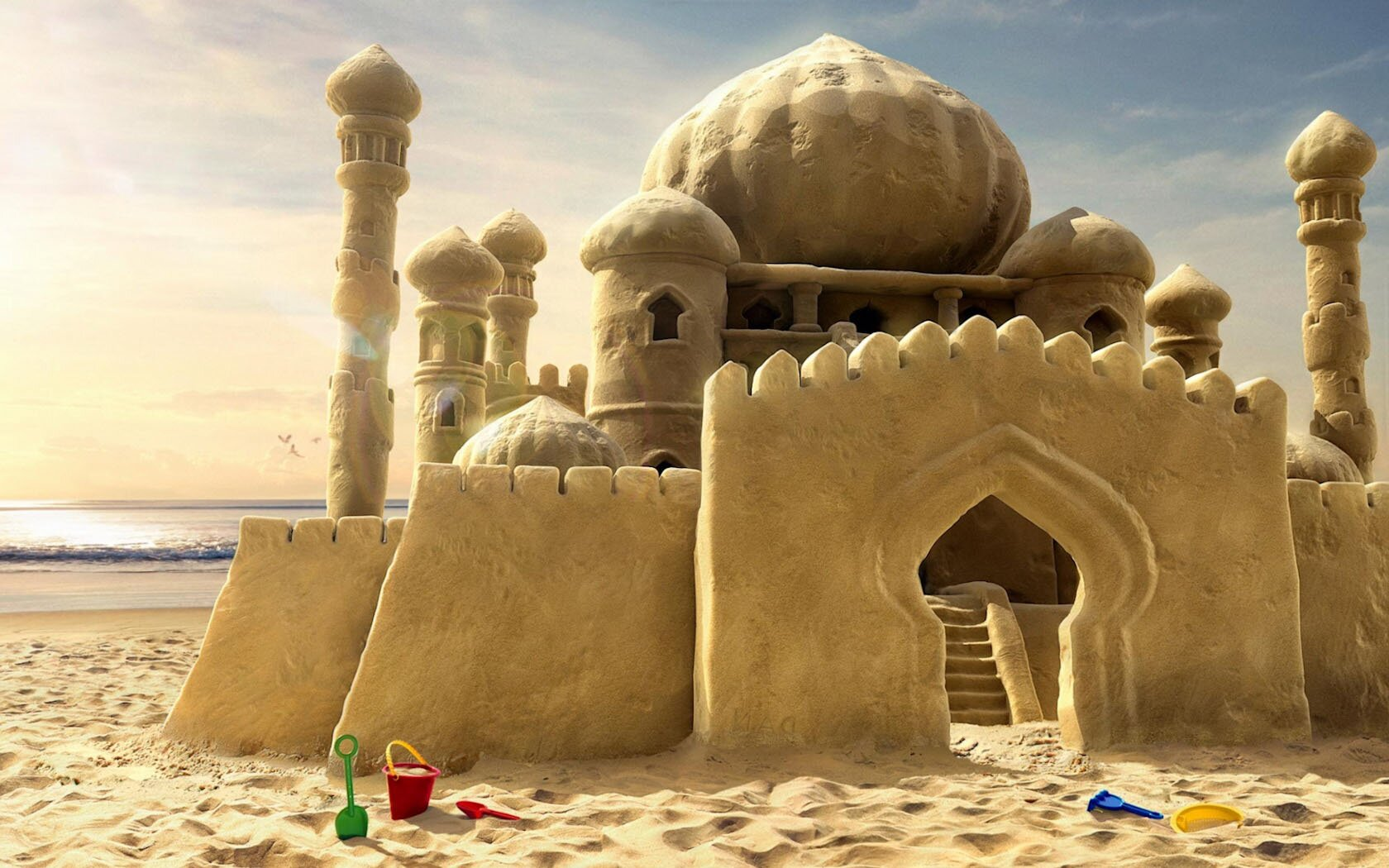 The 15 best sand castles of all time mostbeautifulthings for Fond ecran ete