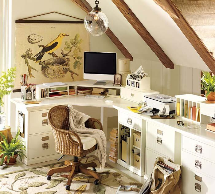 home office decor and photos