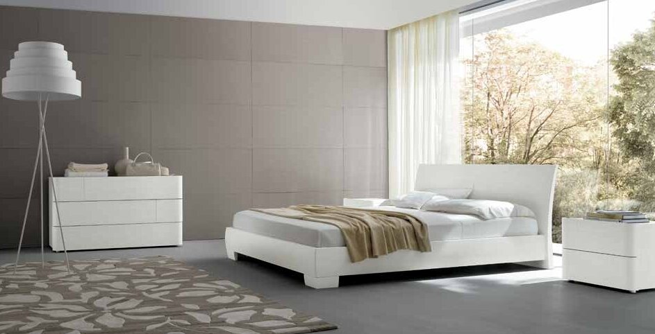 Purity of white bedroom decor in 17 examples - Camera da letto contemporanea ...