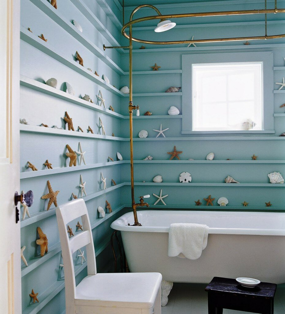 18 great bathroom wall decor ideas with pics for Decoration for bathroom walls