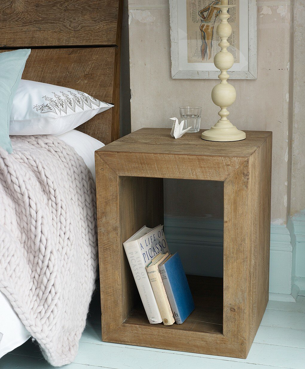 17 inspiring bedside table designs mostbeautifulthings for Modern end table ideas