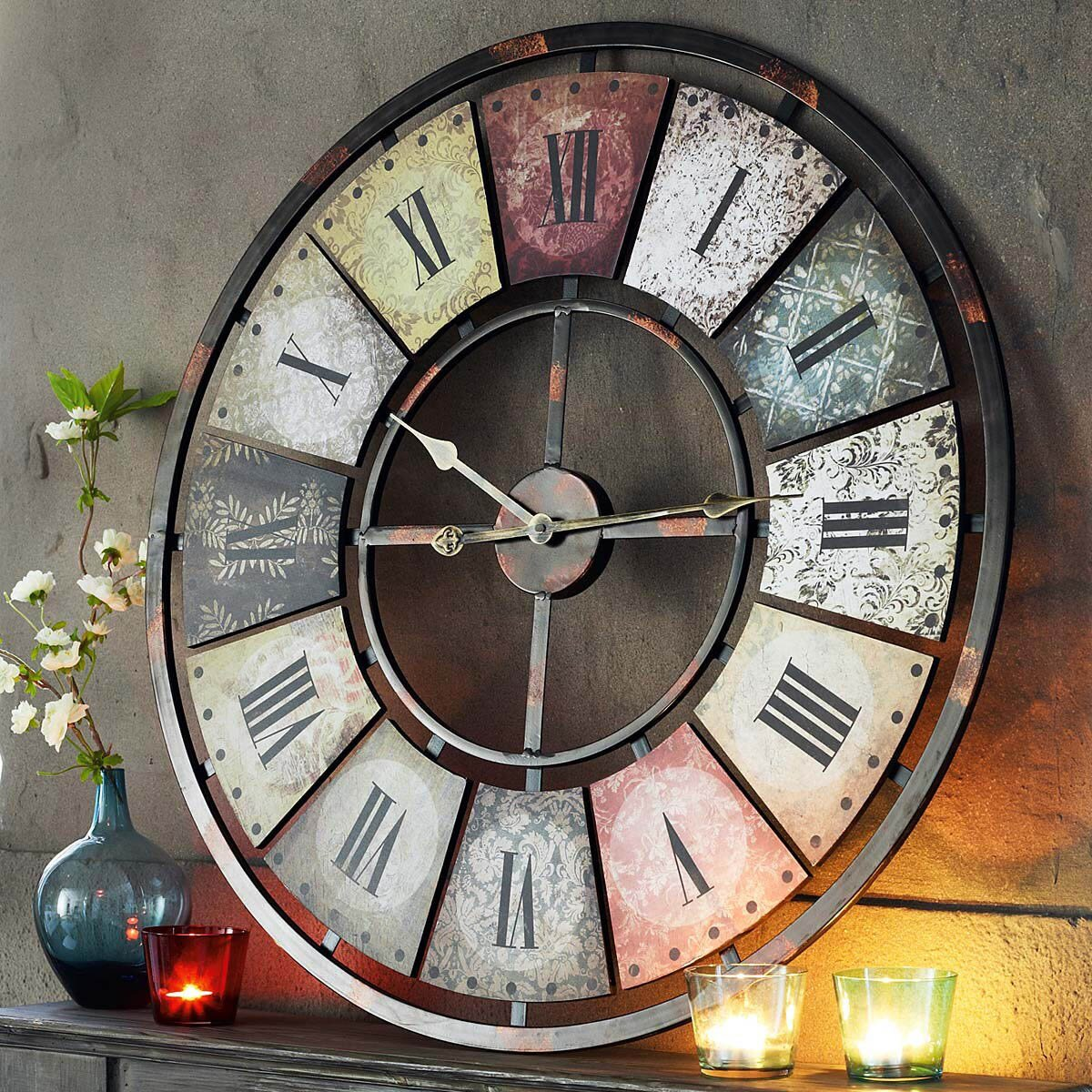 top 17 big wall clock designs mostbeautifulthings. Black Bedroom Furniture Sets. Home Design Ideas
