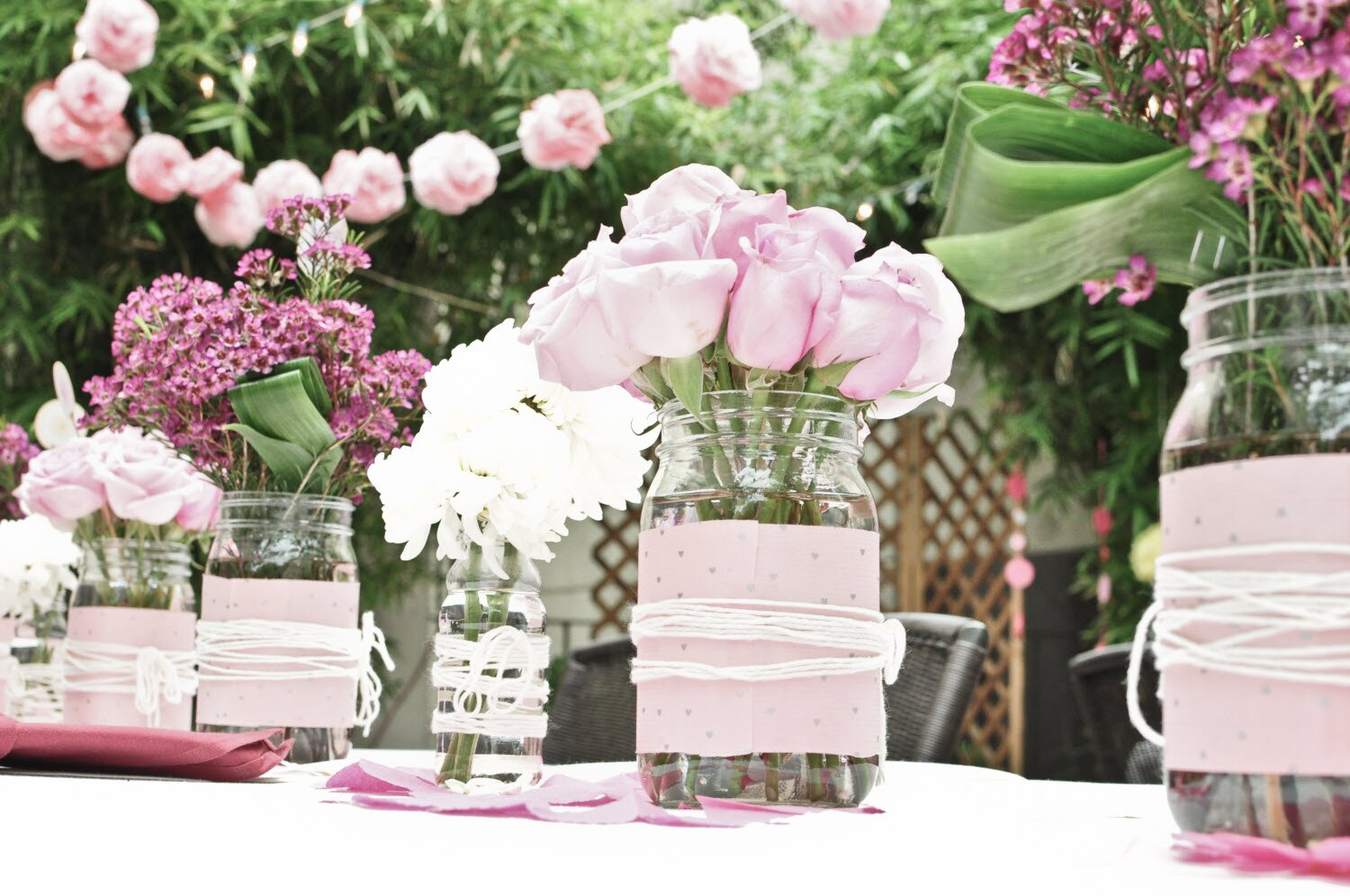 19 really beautiful bridal shower decorations for Decoration avec des roses