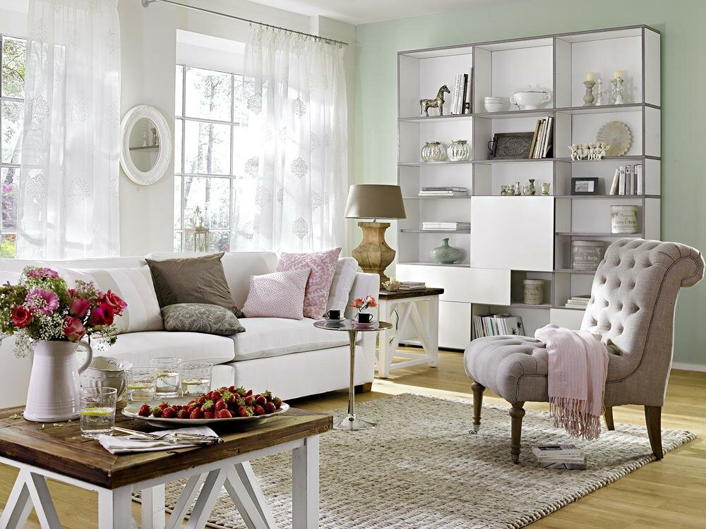 Top 15 living room decor examples mostbeautifulthings for Wohnideen landhausstil wohnzimmer