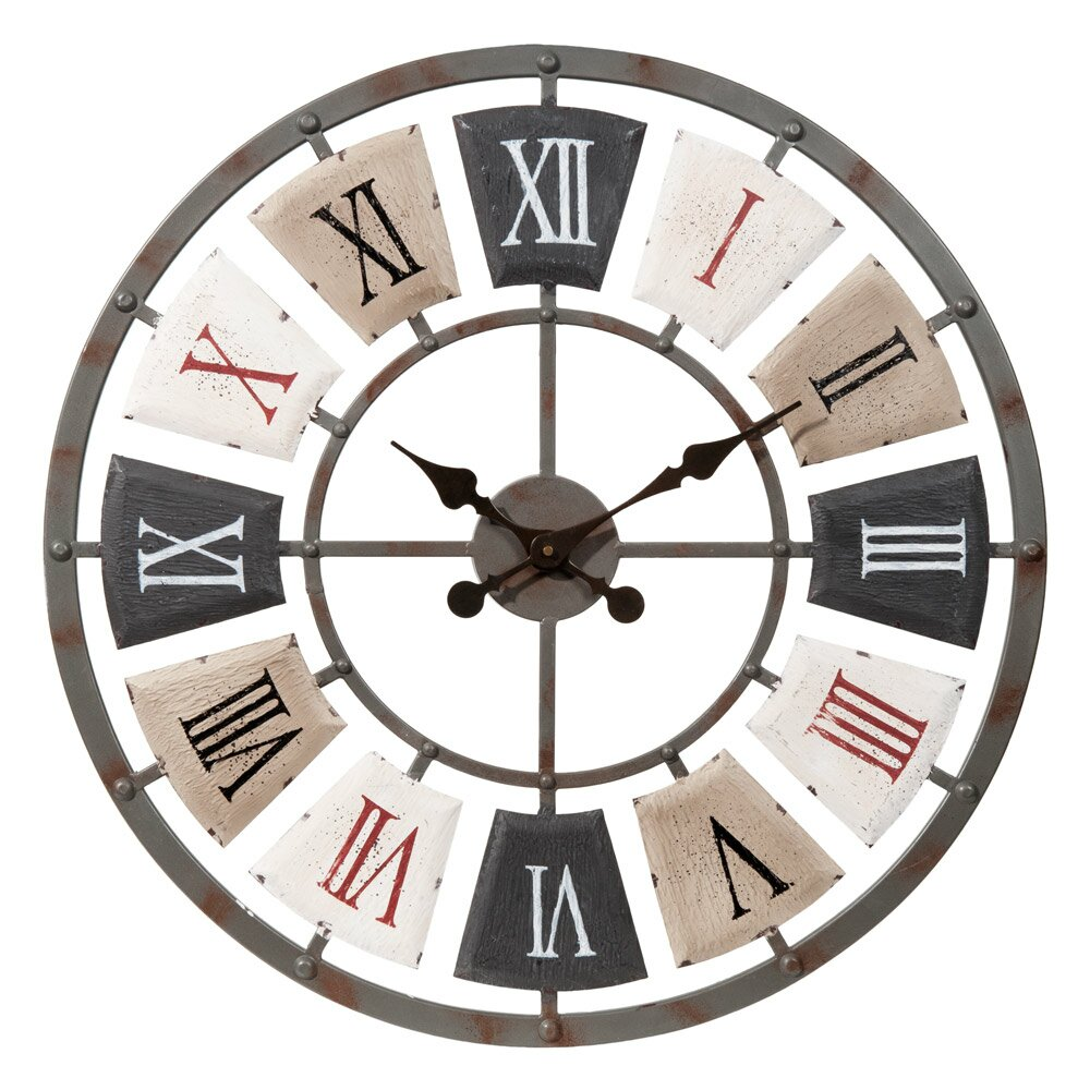 19 inspiring wall clocks for living room decor for Deco murale metal