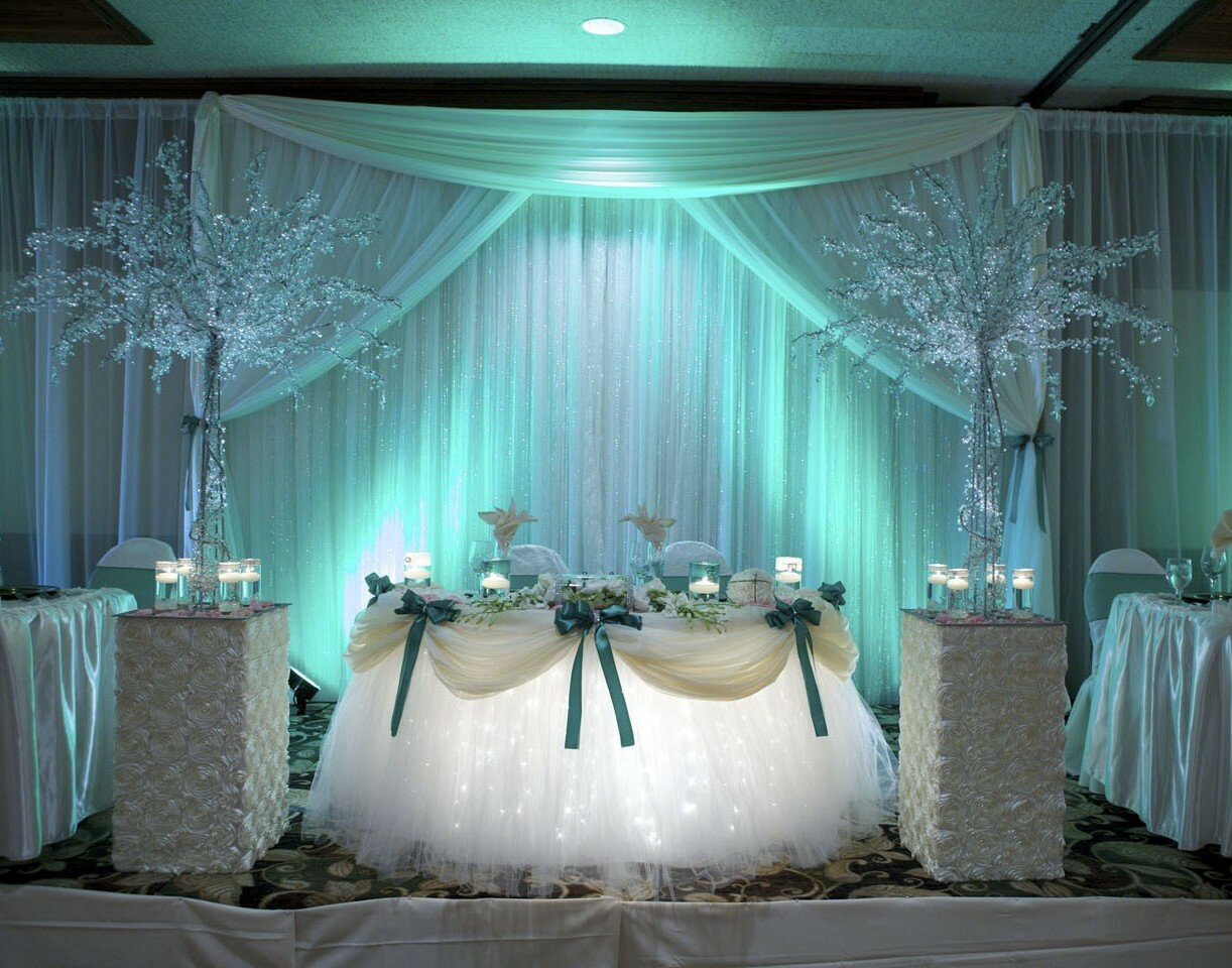Top 19 wedding reception decorations with photos for Wedding event decorators