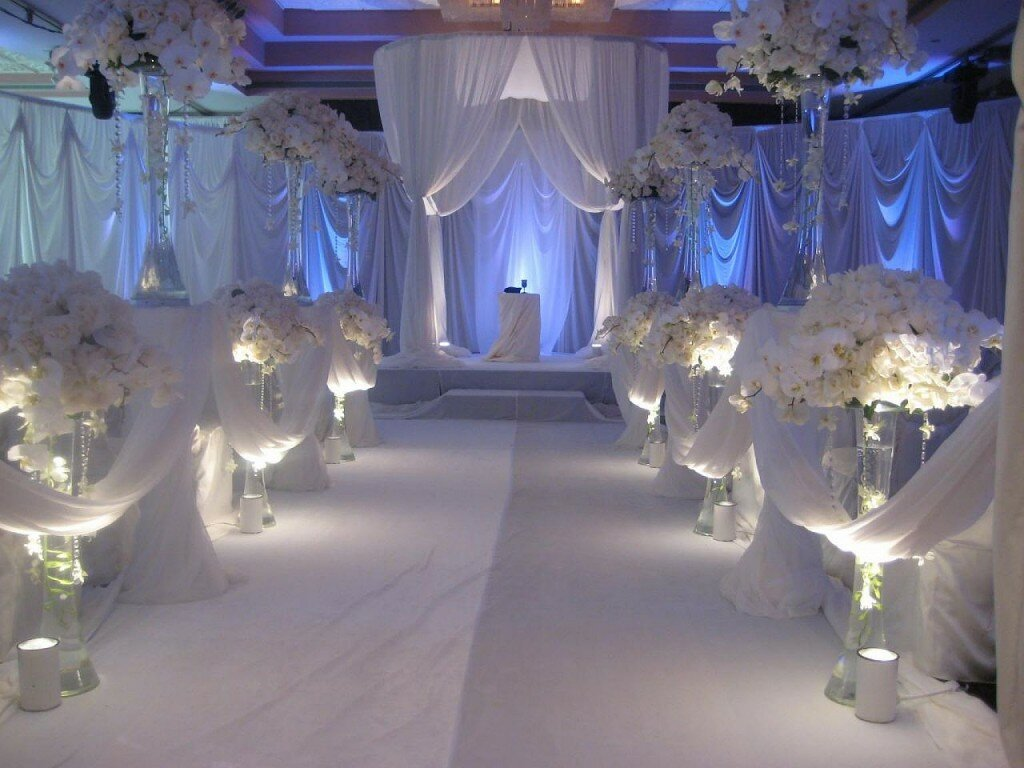 Top 19 wedding reception decorations with photos for Net decoration ideas
