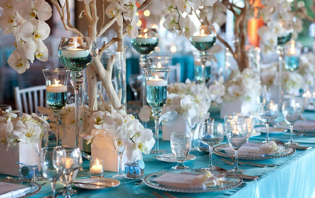 Top 15 examples of wedding table decorations for Beautiful wedding decoration ideas