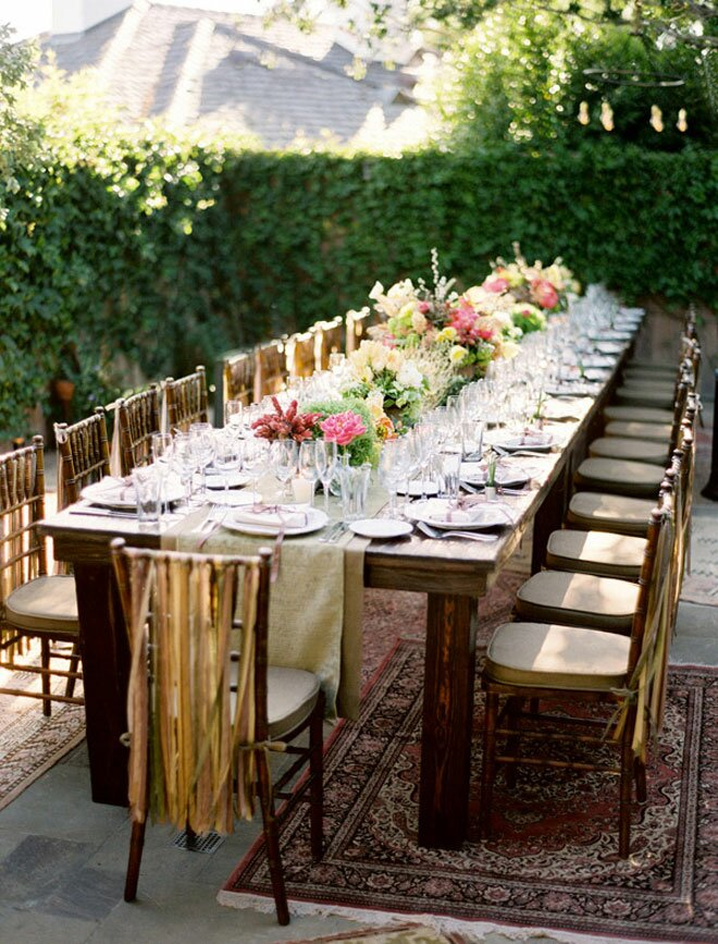 Top 15 examples of wedding table decorations for Deco de table champetre