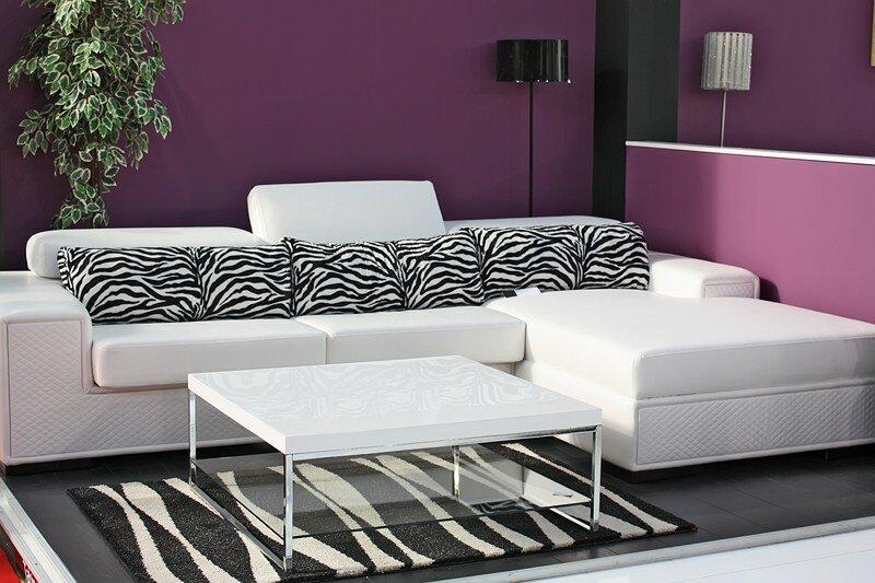 Nice zebra print decor ideas in 16 photos - Salon gris mauve ...