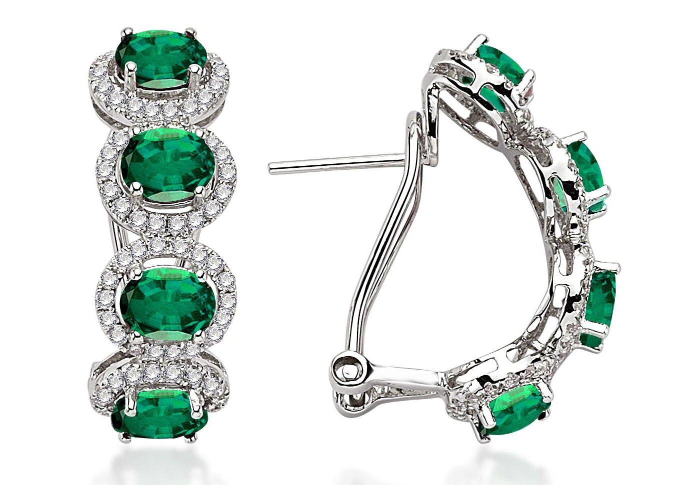 top 15 designs of emerald earrings mostbeautifulthings