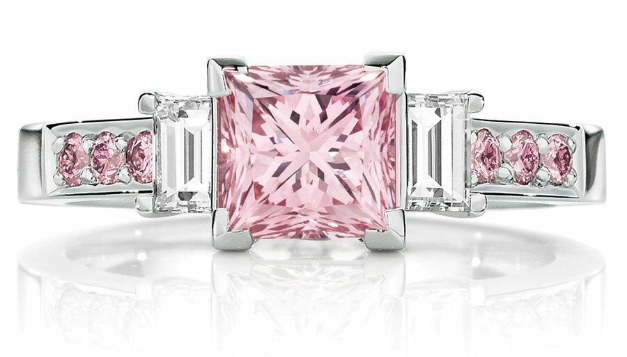 Wedding Rings Princess Cut Pink Diamond VSHAhpa8 Wedding Ring