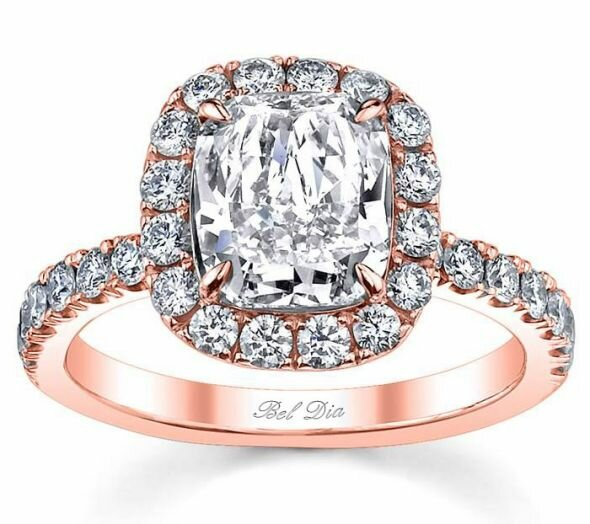 rose gold engagement rings 11