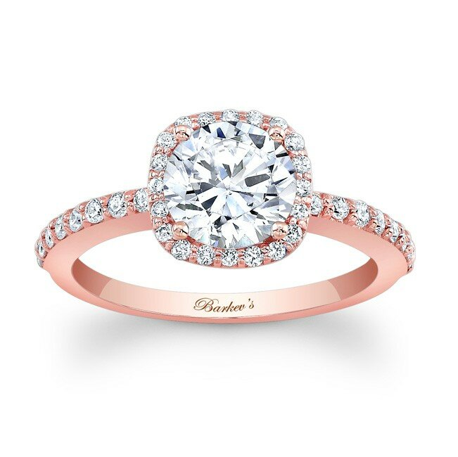 rose gold engagement rings 12