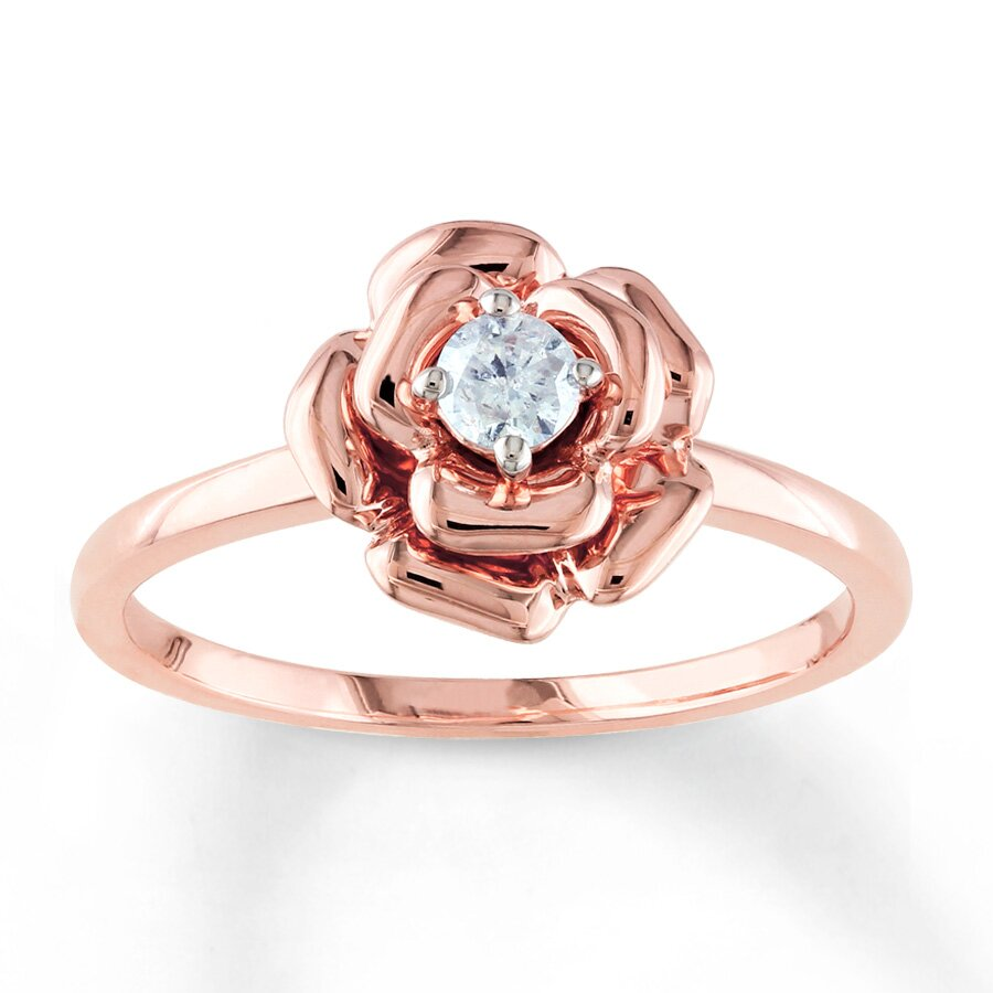 top 14 rose gold engagement ring designs mostbeautifulthings. Black Bedroom Furniture Sets. Home Design Ideas