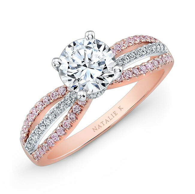 rose gold engagement rings 14