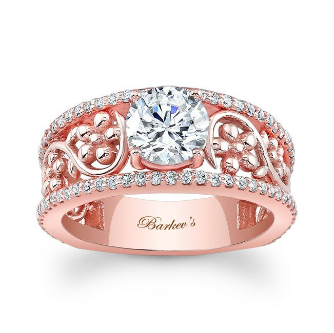 Top 14 Rose Gold Engagement Ring Designs MostBeautifulThings